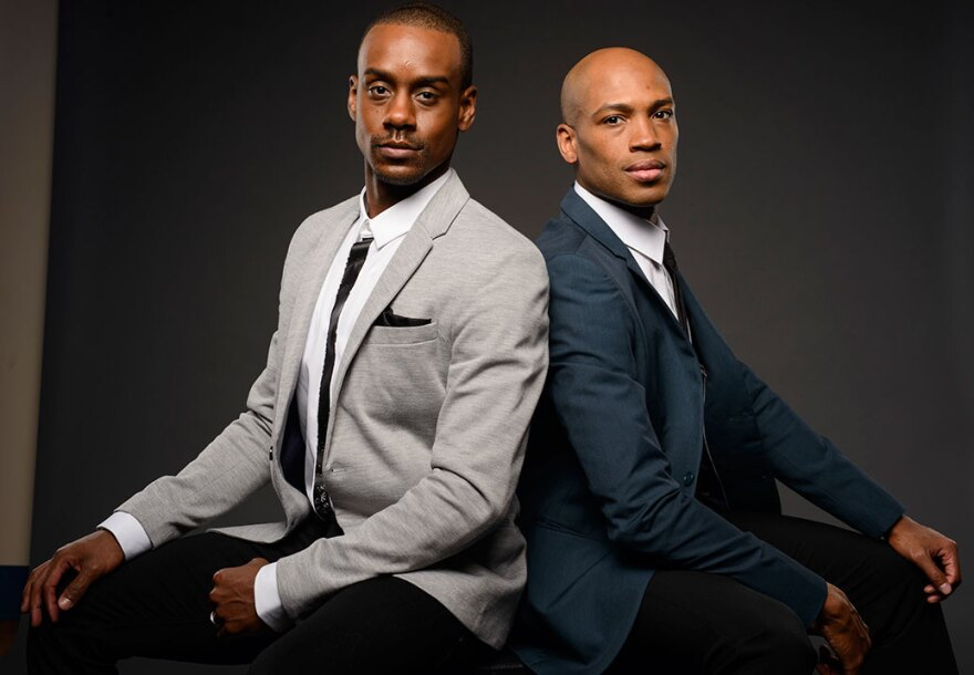Kirven Douthit-Boyd, left, and Antonio Douthit-Boyd, seen in this file photo, left careers at the Alvin Ailey company to work at COCA.