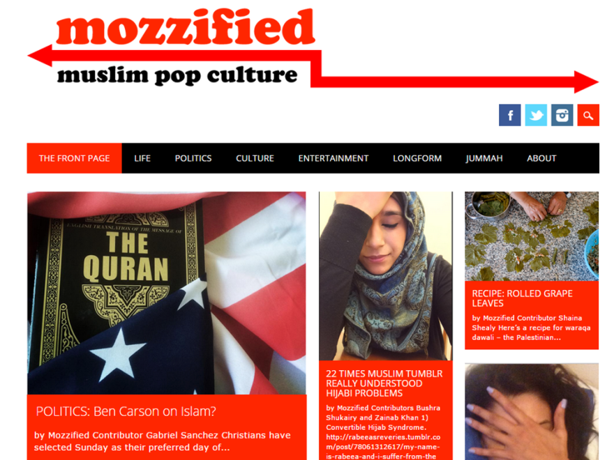 Mozzified is a website about Muslim pop culture.