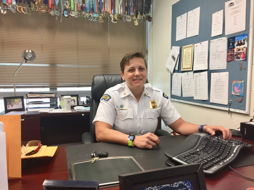 Major Wendy Stiver with Dayton Police