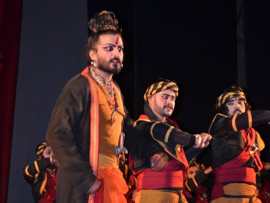 Nigel Akkara plays Ratnakar the Bandit in the dance drama <em>Valmiki Pratibha</em>.