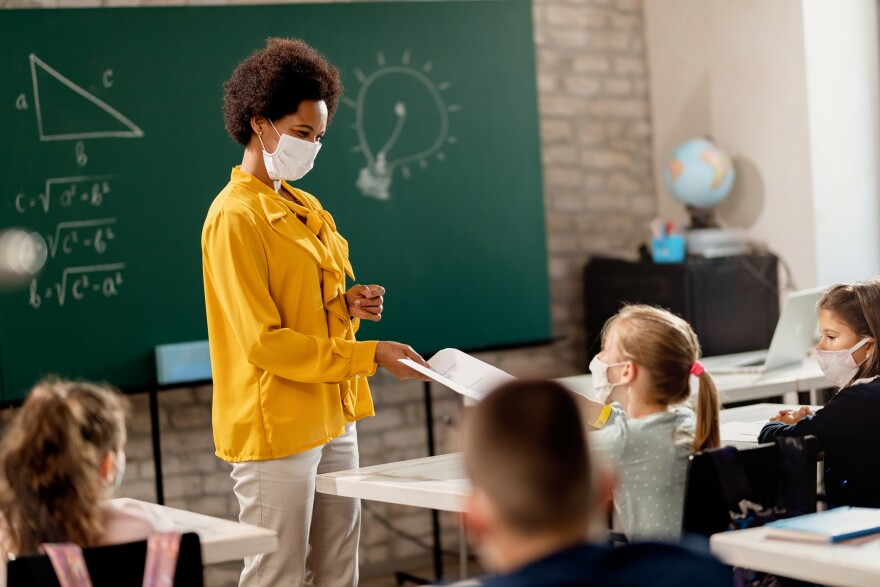 Classroom during pandemic