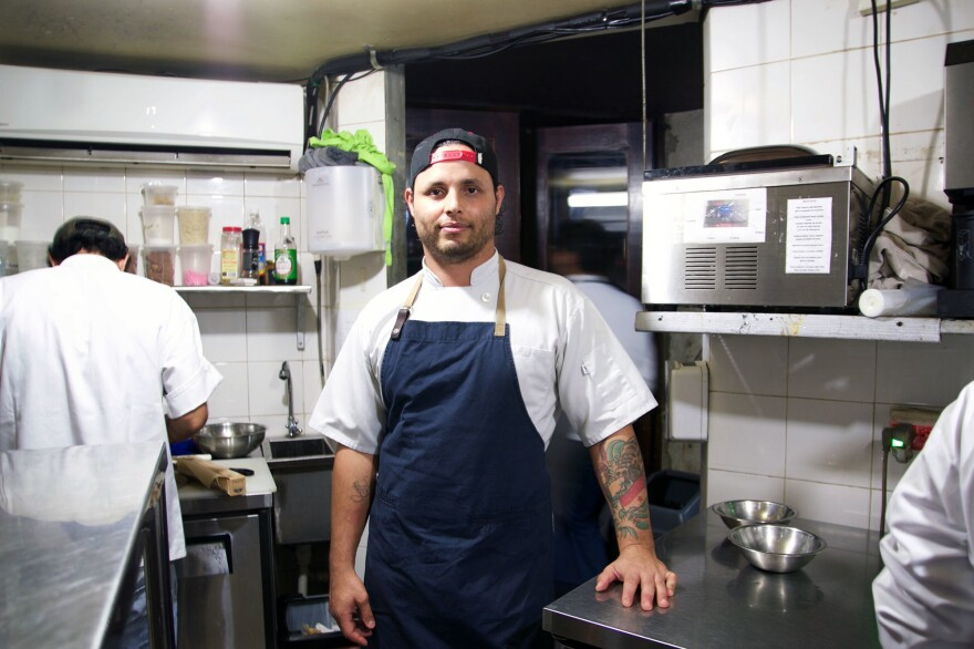 Chef Jose Carles poses in his kitchen. The 31-year-old left a career in Australia to launch his Panama City restaurant, Donde José.<strong> </strong>