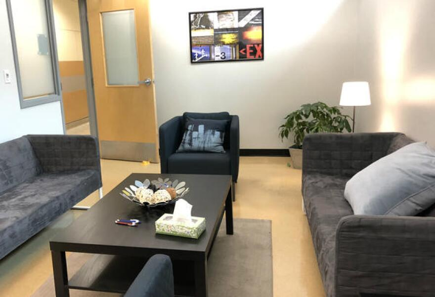 The new Student Advocacy Center building has several rooms for group counseling.