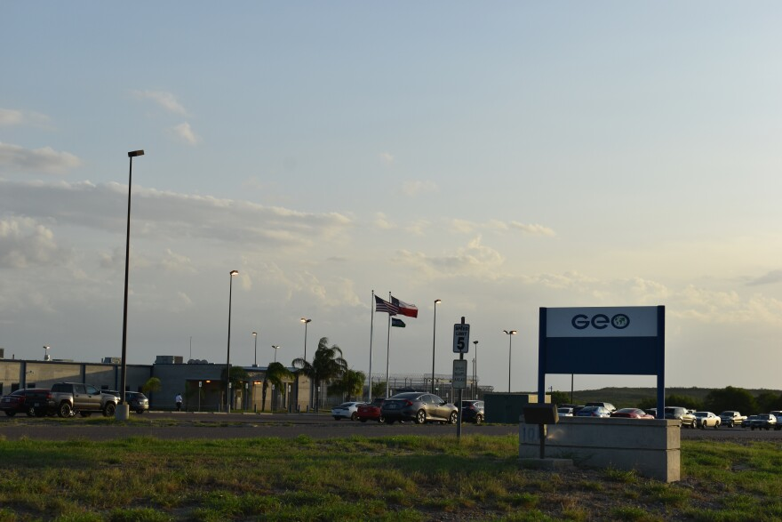 The Rio Grande Detention Center in Laredo is operated by the private company GEO Group.