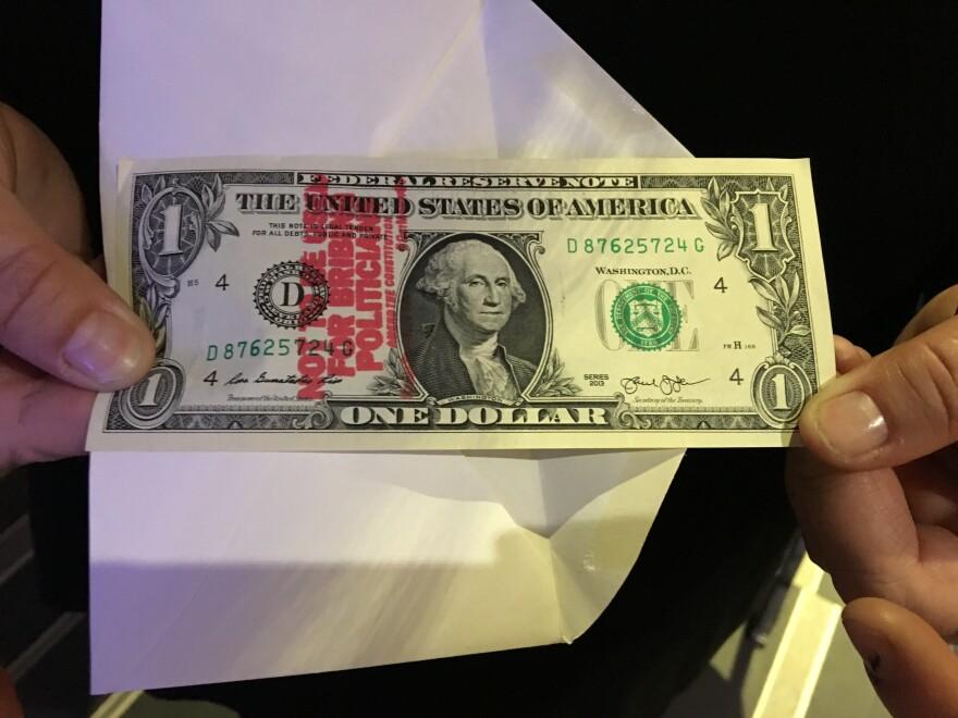 photo of dark money