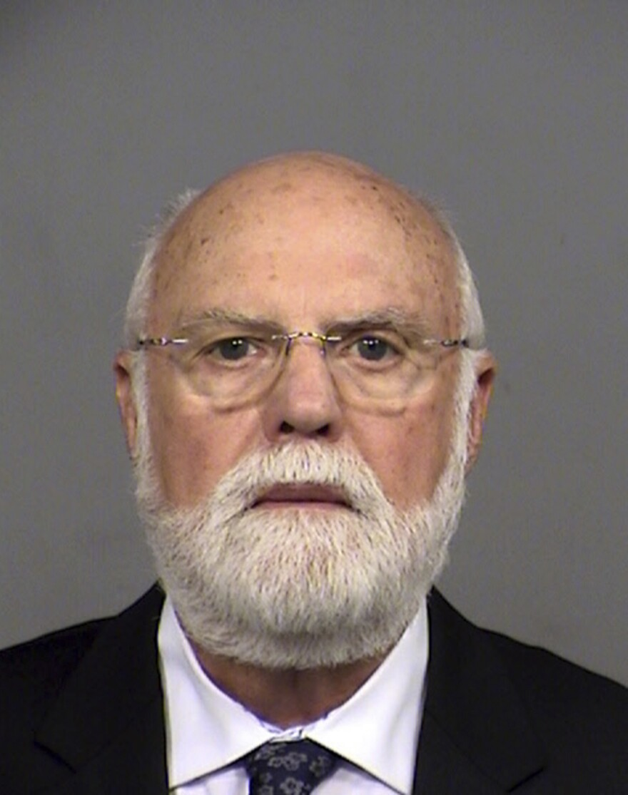 "Donald Cline, a former Indianapolis fertility specialist accused of impregnating his patients with his own sperm, in a mug shot from his arrest in 2016. There was no law against what's called ""fertility fraud"" in Indiana until 2019."