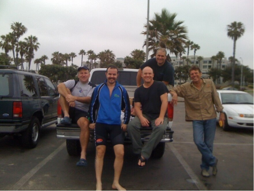 Chris Rosien, Max Miller, Brian Morri, Steve Herbert and Tim Bomba are the coaches of the Los Angeles Triathalon Club's Ocean 101 course.