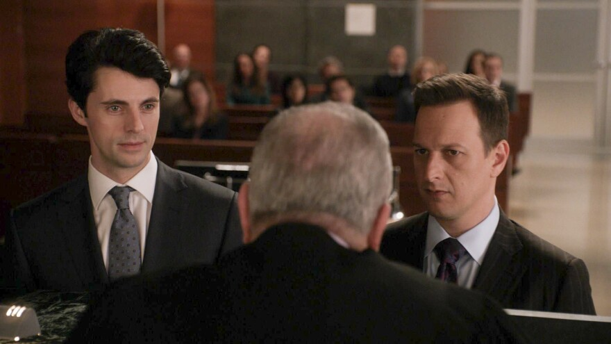 Matthew Goode (left) as Finn Polmar and Josh Charles (right) as Will Gardner in Sunday night's episode of CBS's <em>The Good Wife.</em>
