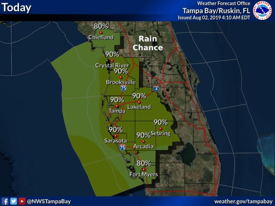 Another round of potentially powerful round of rain and thunderstorms is expected to usher out the work week.