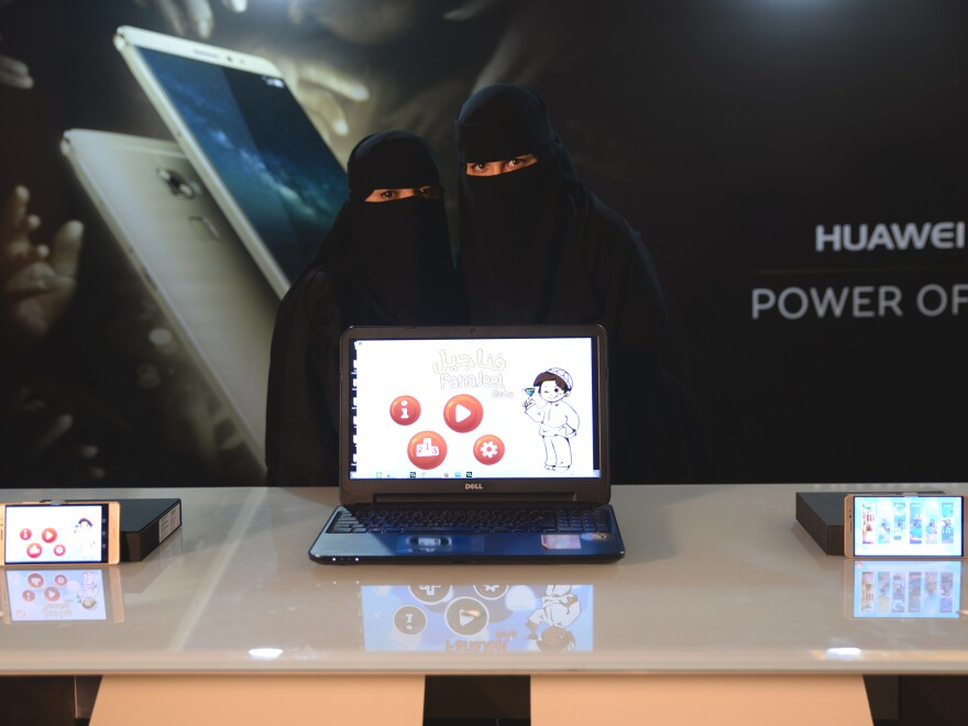 Saudi Independent developers showcasing their games at GCON2015.