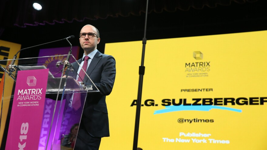 "A.G. Sulzberger, publisher of <em>The New York Times</em>, met with President Trump earlier this month and implored him to ""reconsider his broader attacks on journalism."""