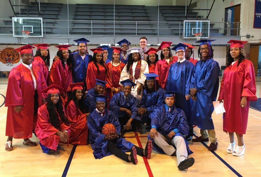 Wilkinsburg High School's class of 2016, its last graduating class after over a century in operation.
