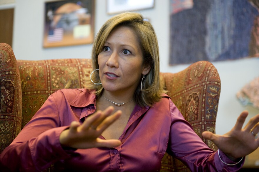 Amanda Renteria, seen in 2008, is serving as Hillary Clinton's national political director.