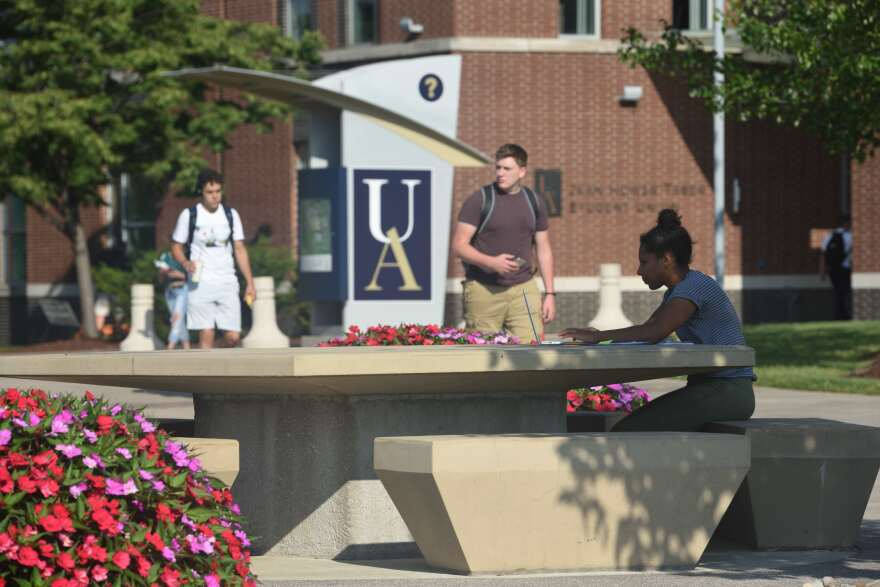 A photo on the campus of The University of Akron.