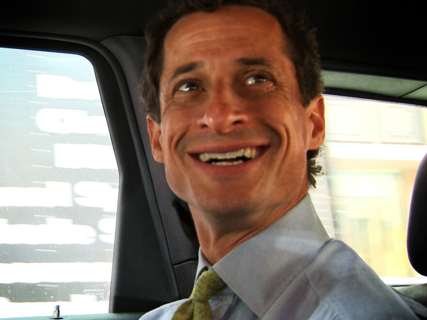 """This image released by IFC Films shows Anthony Weiner in a scene from the documentary, """"Weiner."""""""