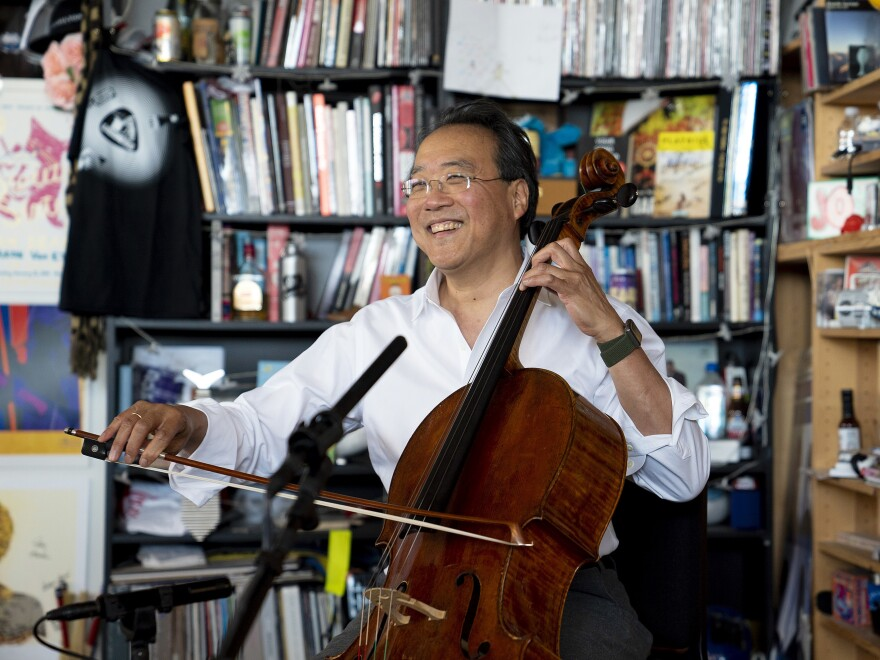 Yo-Yo Ma plays selections from Bach's Cello Suites at NPR Music's Tiny Desk.