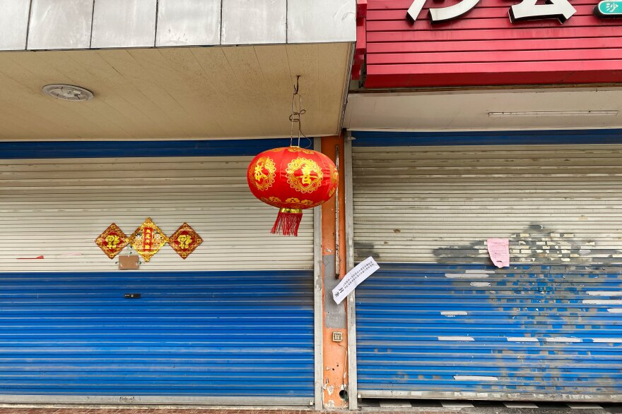 Restaurants and stores have been forcibly shut in Kunshan, many with paper seals to prevent owners from covertly reopening.