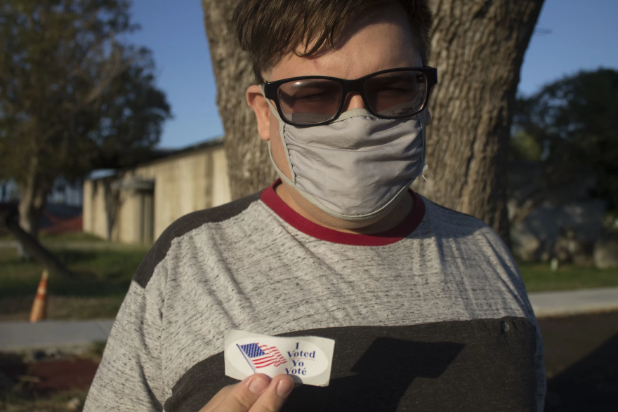 Marlon Duran, 29, voted at a polling station in McAllen.