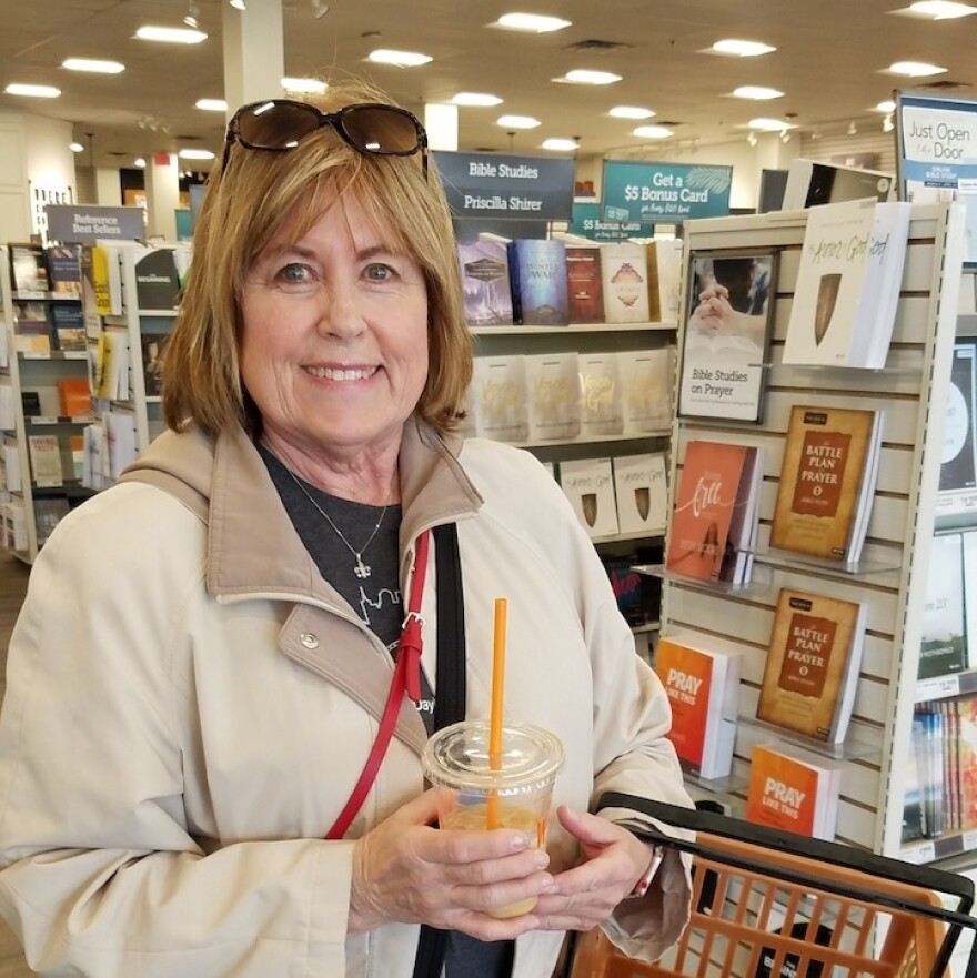 Nashville resident Susan Oaks says she frequently spends hours at a time at LifeWay stores, including the company's location in Cool Springs, Tenn.