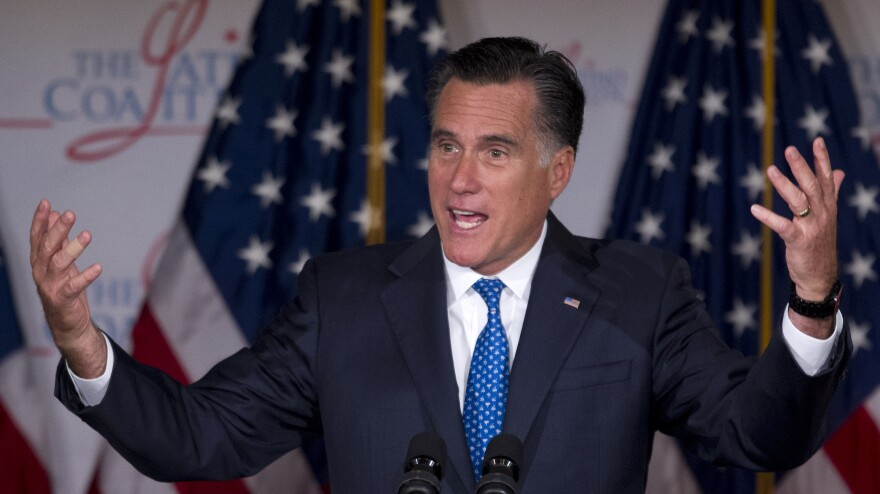 Mitt Romney speaks at the Latino Coalition annual economic summit  Wednesday in Washington, D.C.
