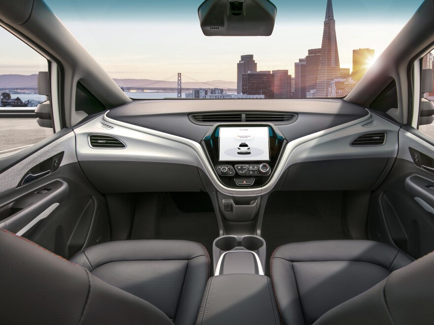 The Cruise AV is designed to operate on its own, with no driver, steering wheel, pedals or other manual controls.