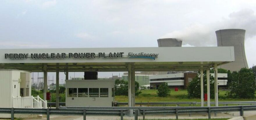 photo of entrance to FirstEnergy Solutions' Perry Nuclear plant
