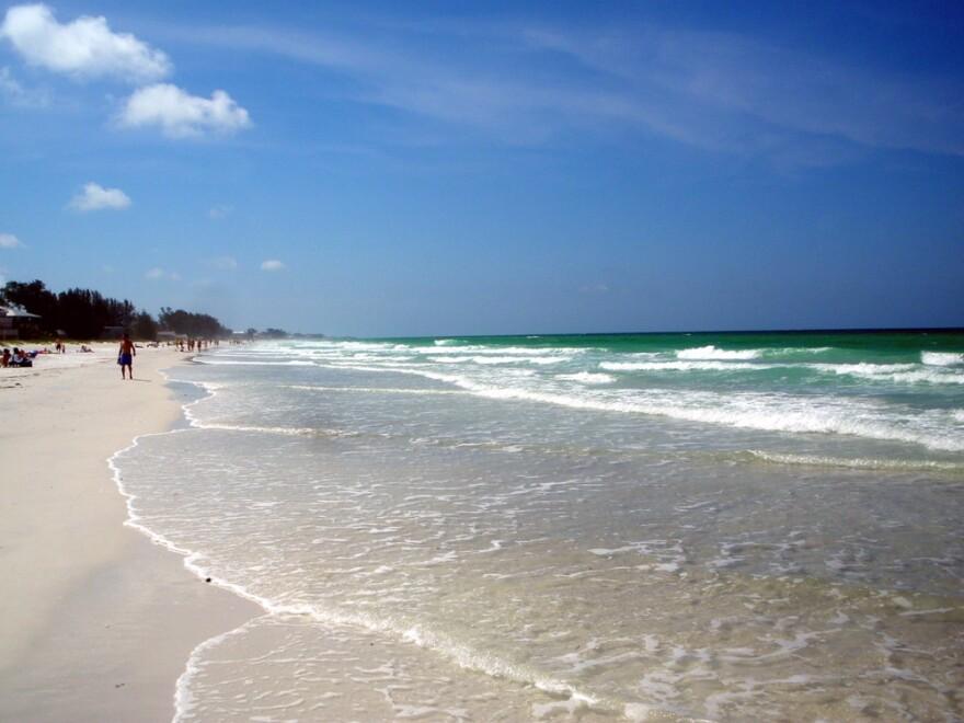 Beach on Anna Maria Island.