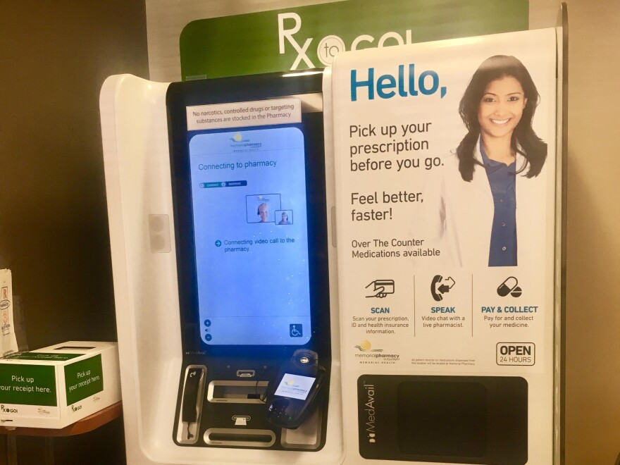 Jacksonville Memorial Hospital recently started offering prescription drugs through an RX-to-go kiosk in its emergency room. Lindsey Kilbride/WJCT
