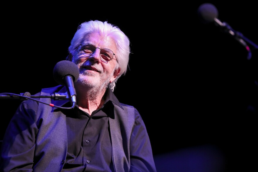 Michael McDonald plays a game on <em>Ask Me Another</em> at the Lobero Theatre in Santa Barbara, California.