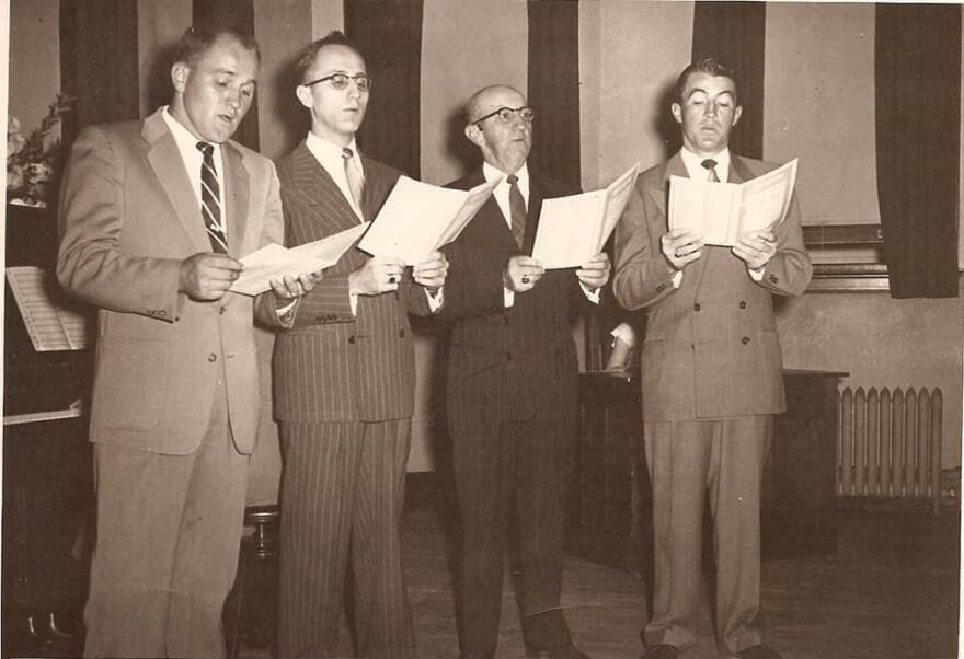 The Holter quartet was an institution at Christ Reformed Church in Middletown, Md. Dick is on the right, with brothers Bob and Cecil Jr., and their father C.K. Sr.