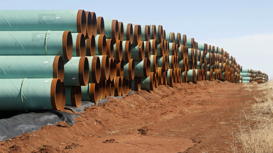 Legislation to approve the Keystone XL pipeline is the latest Senate Bill 1. President Obama has vowed to veto it.
