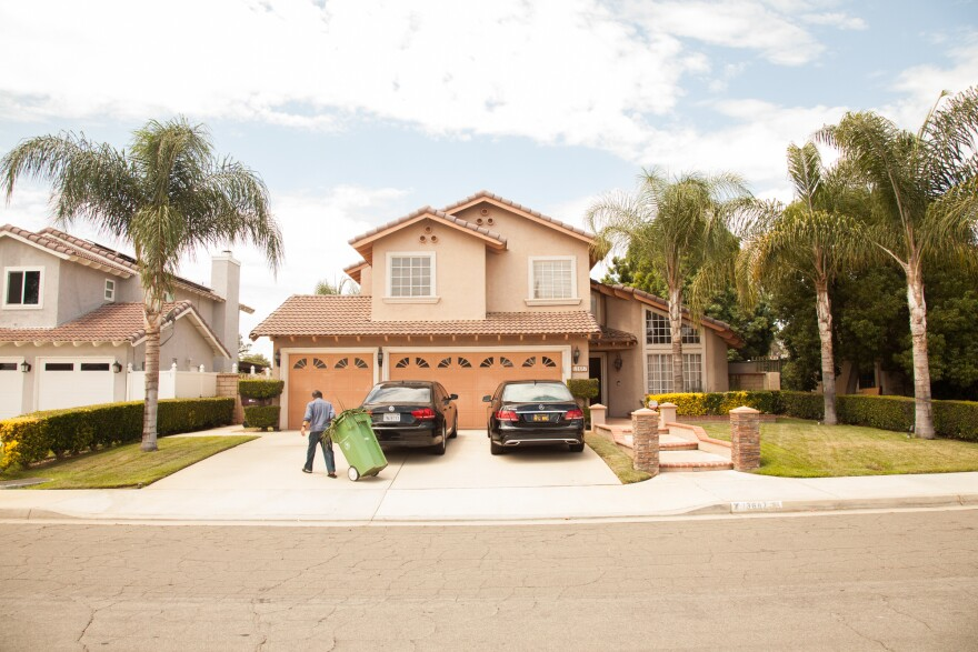 Guerra and wife's house in the suburban community of Moreno Valley. The couple bought the home after immigrating to the U.S. and raised three children there.
