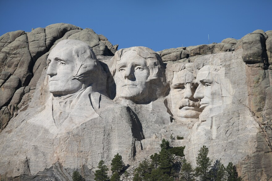 Several Native American groups are expected to protest President Trump and the Fourth of July fireworks show at Mount Rushmore. (Scott Olson/Getty Images)