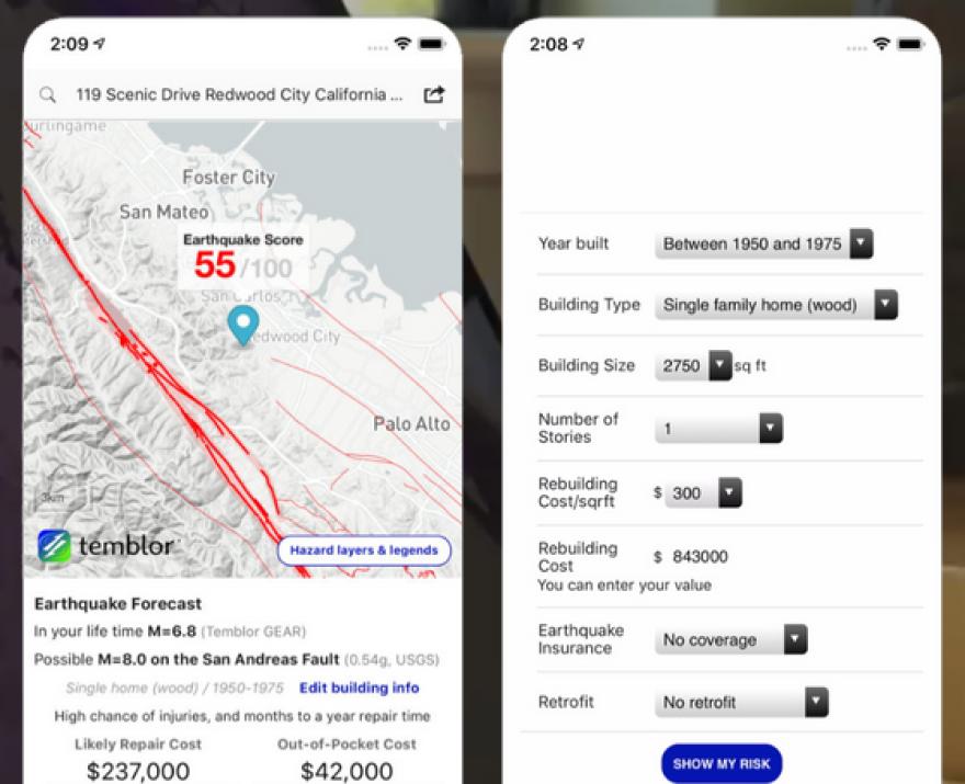 Temblor app screens.png