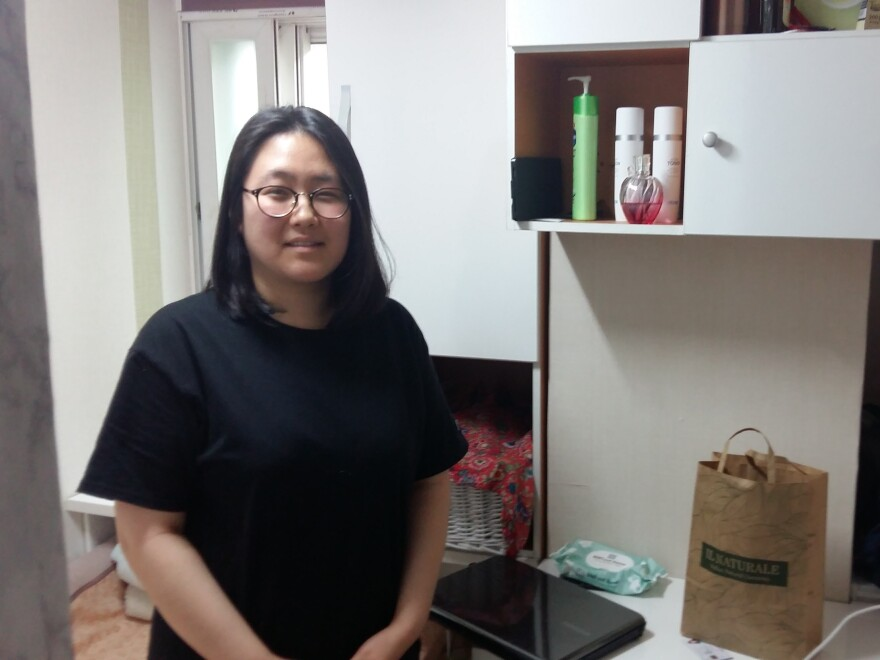 Lim Hyuk-ju, 25, in her 30 sq. ft. apartment in Seoul. Lim pays $400 a month for this tiny space, where she studies 15 hours a day for job entry exams. Her path is similar to many youth in South Korea, where unemployment among 15- to 29-year-olds is nearly three times the overall rate.