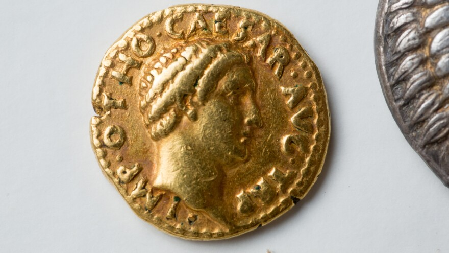 "After assistant professor Philip Kiernan at the University at Buffalo asked specialists to look at the school's rare coins, they realized the set included a ""remarkably rare"" gold coin from the emperor Otho's short reign."