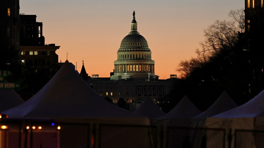 The Capitol seen on Saturday.