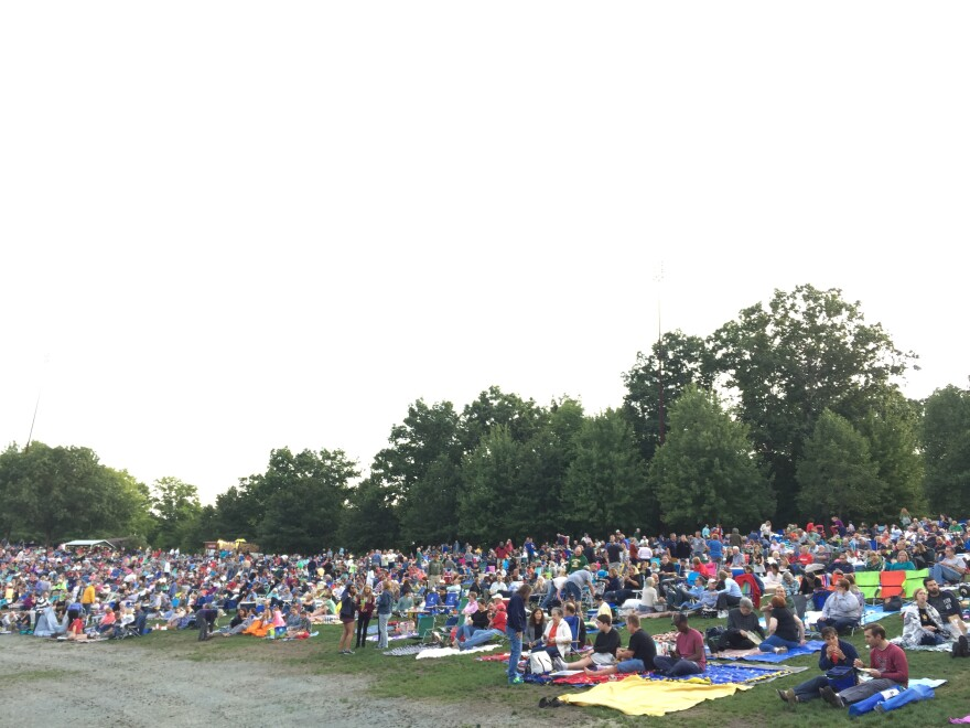 photo of Blossom Music Center lawn