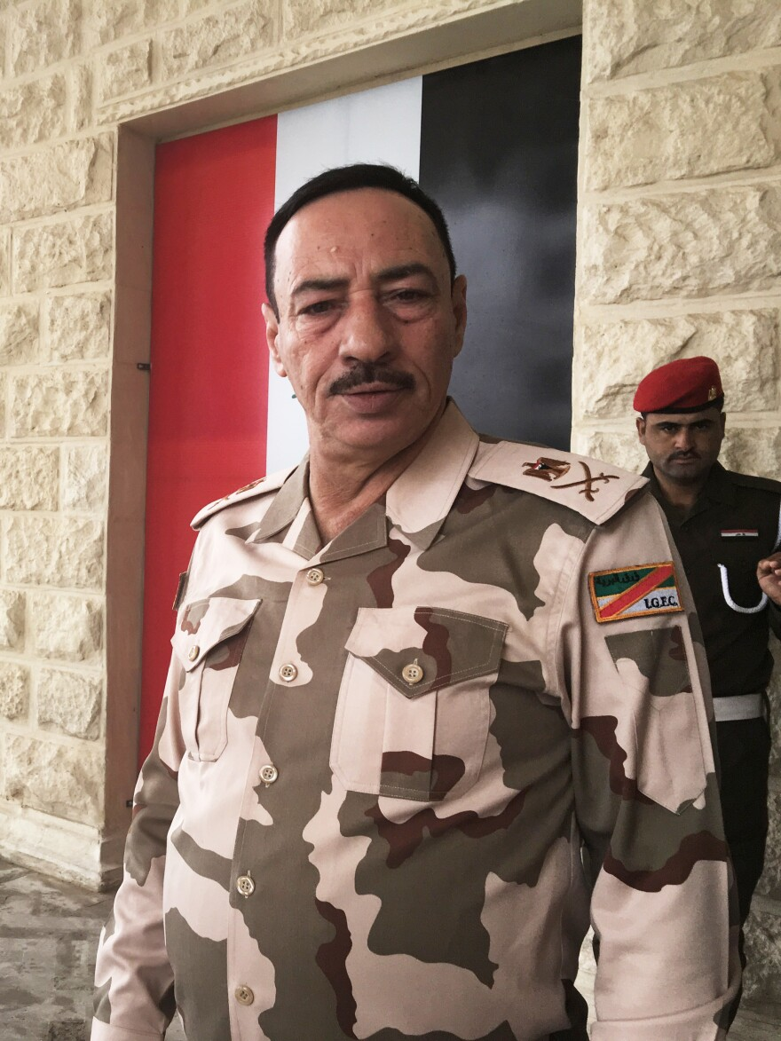 """Gen. Nijm al-Jabouri at Saddam Hussein's former palace compound in Mosul, where he is in charge of Mosul security. In 2003, he thought the new Iraq would be orderly, liberal and secular. """"We thought we would breathe freedom, we would become like Europe,"""" he says. Instead, he says, """"We returned to the Dark Ages."""""""