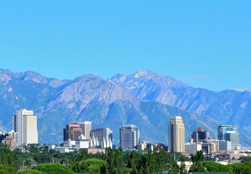 Photo of the downtown salt lake city skyline