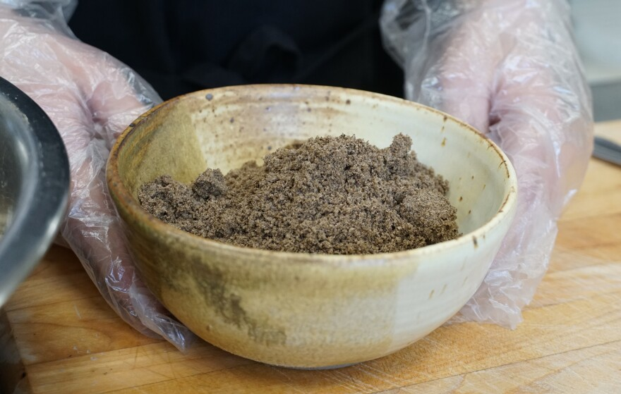 The crickets in Mighty Cricket products are dried, roasted and ground into a powder. Researchers say consumers are more likely to try edible insects in a powder form.