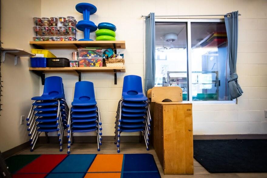 Mainspring Schools Preschool, closed during the coronavirus pandemic, in south Austin.