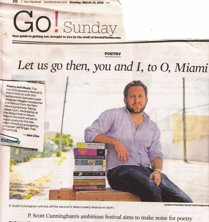 Scott Cunningham newspaper photo