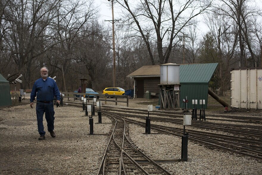 Rains since the flooding have helped wash away the thick mud left by the Meramec River across the Wabash, Frisco and Pacific Railroad Association's tracks.