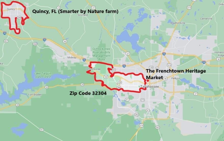 Map of Quincy