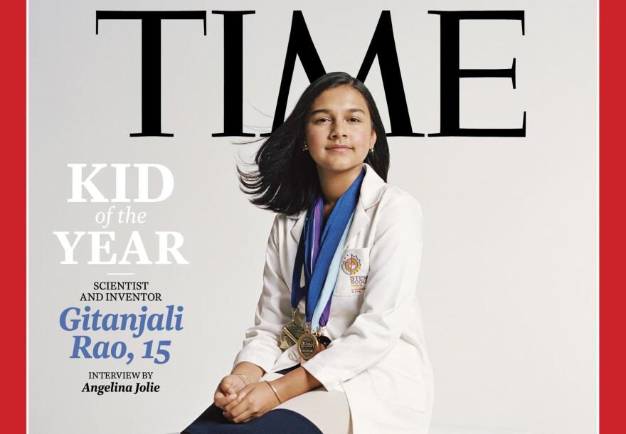 Gitanjali Rao on the cover of Time Magazine.