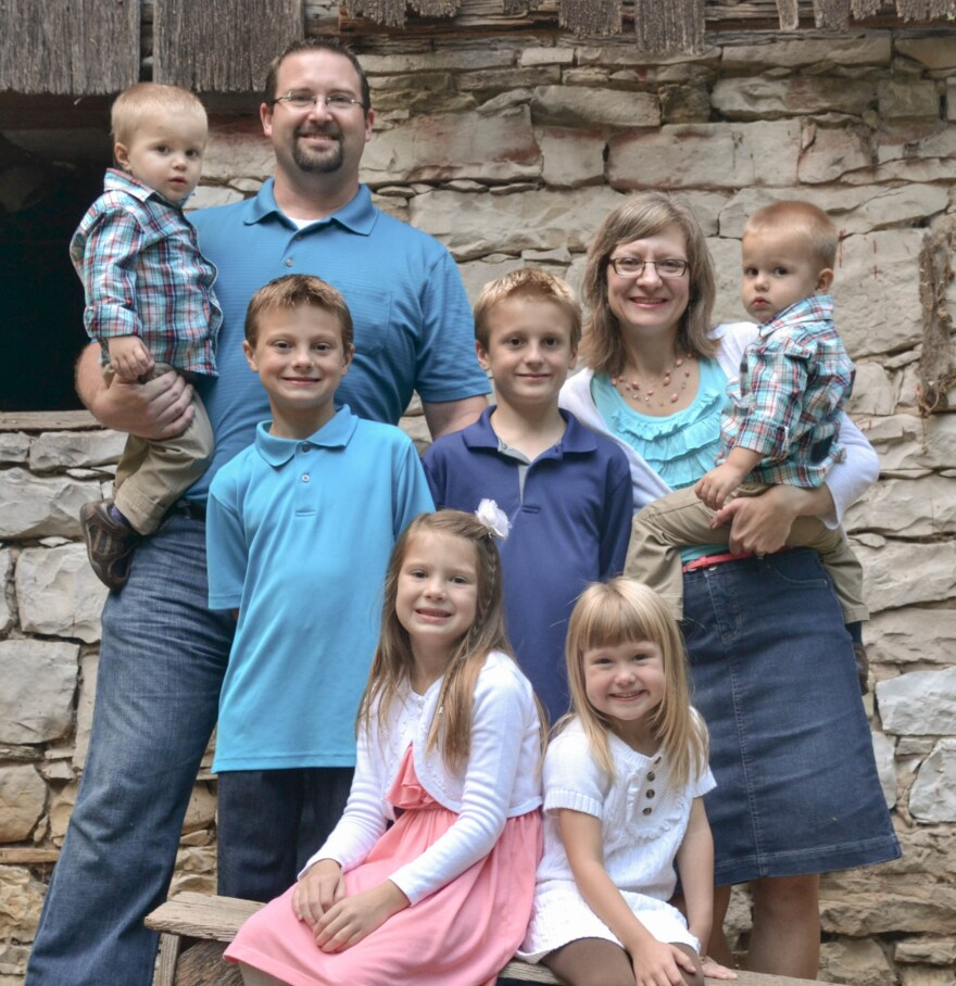 Bryan and Emily Webb and their children