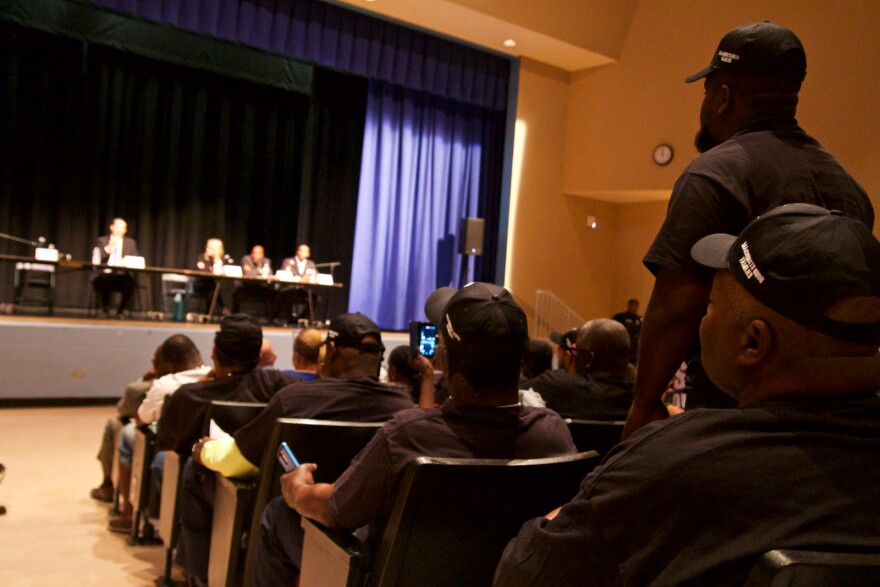 Hundreds of Glades area residents spoke out against SB10 to Florida Senate President Joe Negron at a town hall meeting in Pahokee on Mar. 17, 2017.