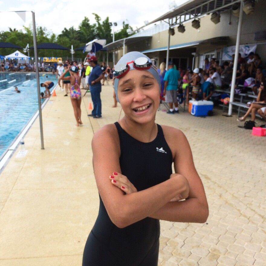 """""""I was surprised because I didn't really know that I was one of the best,"""" says Emily Lopez-Diaz about winning a bronze medal in a regional competition last year."""