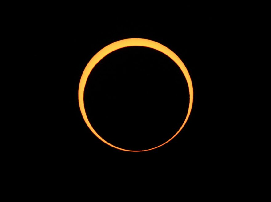 An annular eclipse of the sun on May 20, 2012 as seen from Chaco Culture National Historical Park in Nageezi, Arizona. (Stan Honda/AFP/GettyImages)